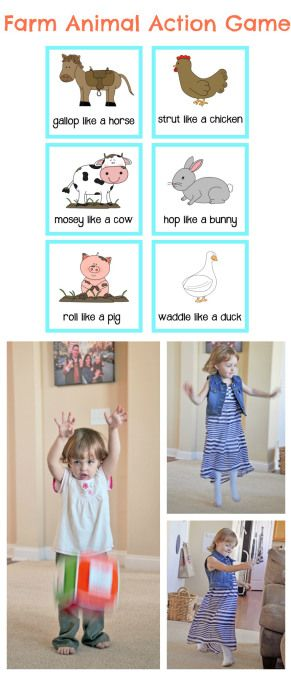 Farm Animal Movement Game | Preschool and Toddler Activity with Free Printable!