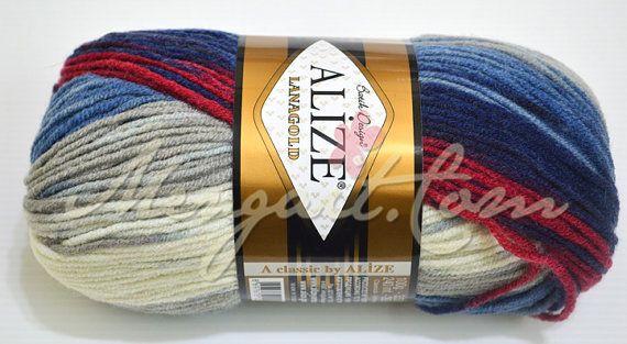 Alize LanaGold Batik Yarns  Wool & Acrylic  Turkish by AyzaStudyo, $9.50