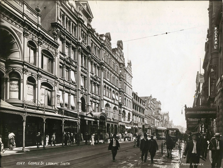 Look how lovely George Street looks in this photo, c1910-1920. Hats & carriages always add romance don't they! #sydney #cityofsydneyarchives #history #archives
