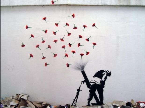 Graffiti (Banksy), Poetry and Technical University   – Χειροτεχνίες
