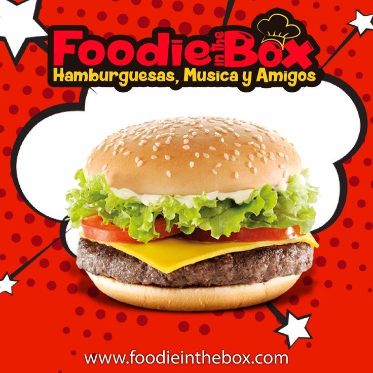 #FoodieInTheBox Hamburguesa con carne de 120 o 180 gr tú eliges. http://foodieinthebox.com/