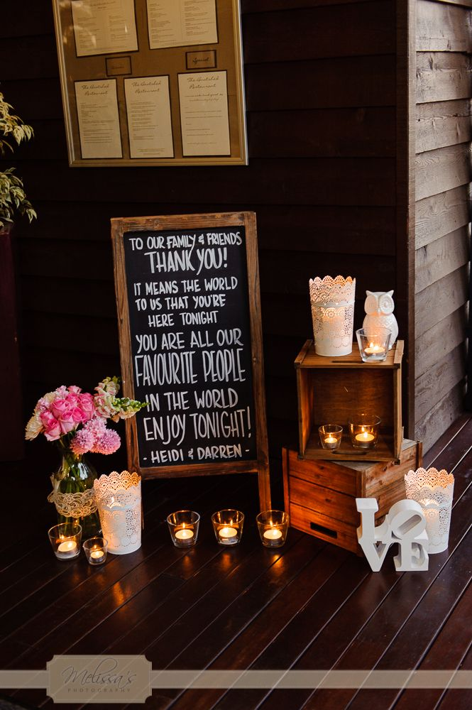 Such a welcoming entrance for Heidi & Darren's wedding
