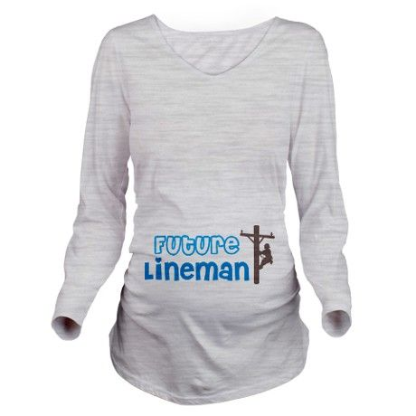 Future Lineman Long Sleeve Maternity T-Shirt.. Zach would love this!