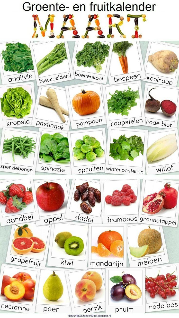 Maart groente- en fruitkalender