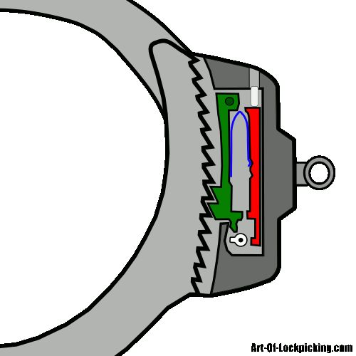 art-of-lockpicking: Picking handcuffs, while does take practice, is relevantly simple in theory. All we need to do is mimic the form and motion of the key in the locking mechanism. This can be accomplished with any small strand of hard but formable wire such as a paperclip or a bobby pin. (via How To Pick Handcuffs)