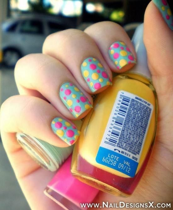 143 best colorful nail designs nail art images on pinterest 17 colorful and easy nail art designs which you can easily apply to beautify your nail multi colored polka dots and horizontal strips design are my prinsesfo Choice Image