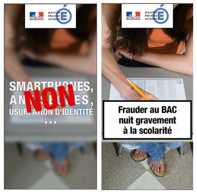 """""""Frauder nuit gravement à la scolarité"""" http://www.education.gouv.fr/cid72090/bien-preparer-baccalaureat.html"""