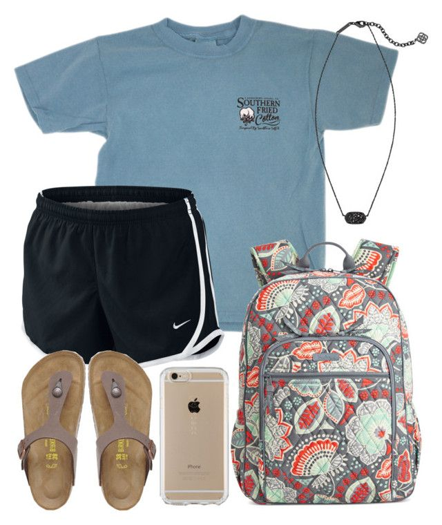"""It's so hot outside "" by jadenriley21 on Polyvore featuring NIKE, Vera Bradley, Birkenstock, Speck and Kendra Scott"