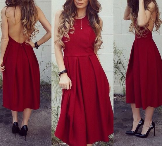 LULUS Exclusive Halter-native Girl Backless Burgundy Midi Dress