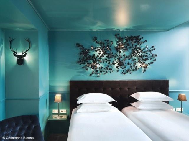 Des idées déco à piquer à l'hôtel Original décoré par Stella Cadente #deco #hotel #cerf #cadente