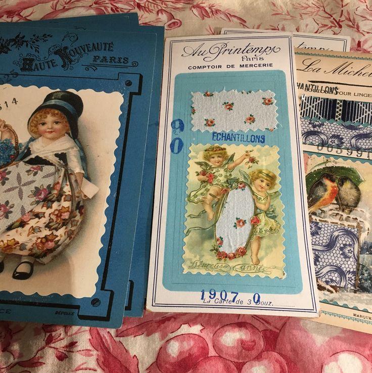 Dressmaker fabric sample cards.