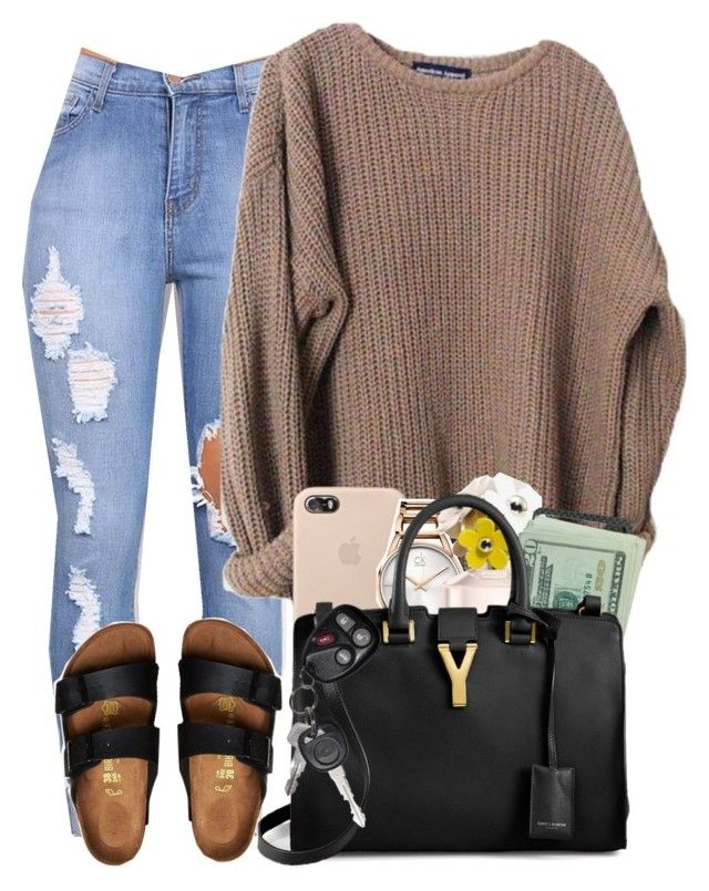 """""""#Fall"""" by imwhit ❤ liked on Polyvore featuring Birkenstock, Calvin Klein, Marc Jacobs and Yves Saint Laurent"""