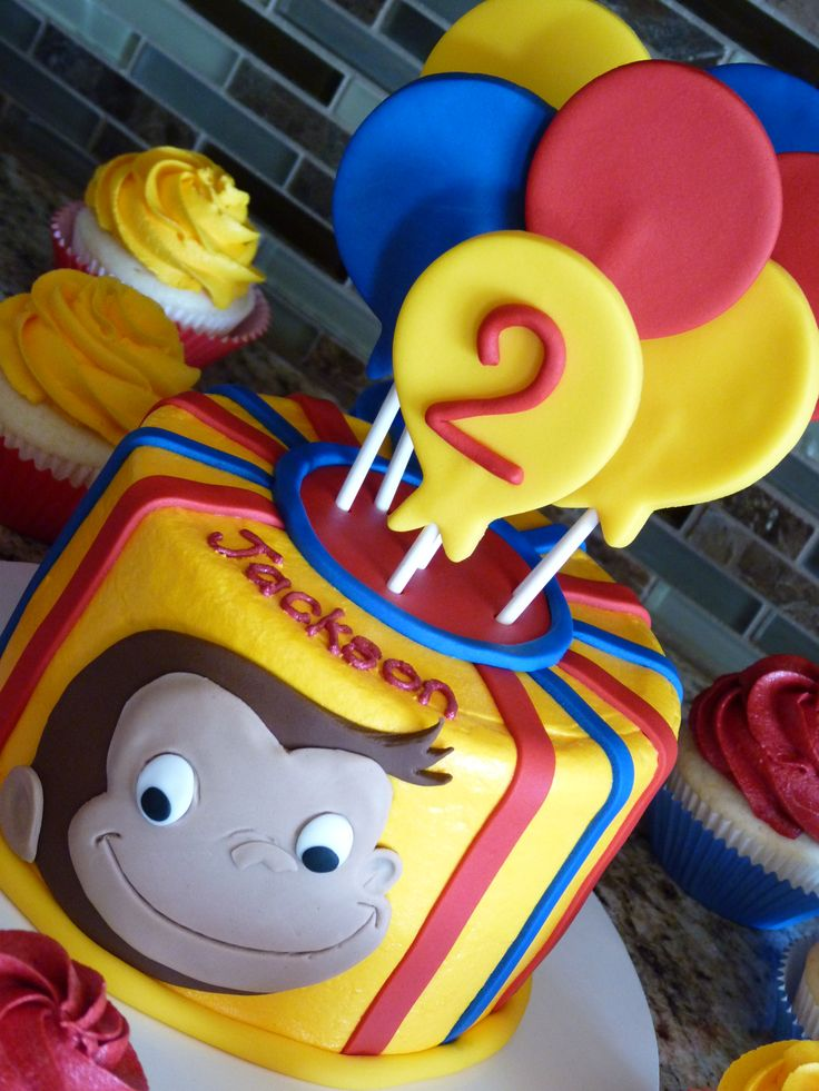 Curious George cake #mimissweetcakesnbakes #curiousgeorgebirthday
