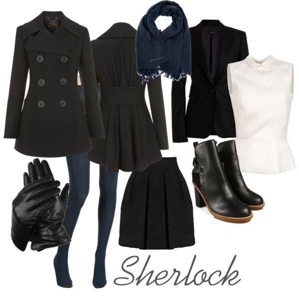 """""""BBC Sherlock-Sherlock Holmes"""" by hfriday on Polyvore<<< I could probably do this for October..."""