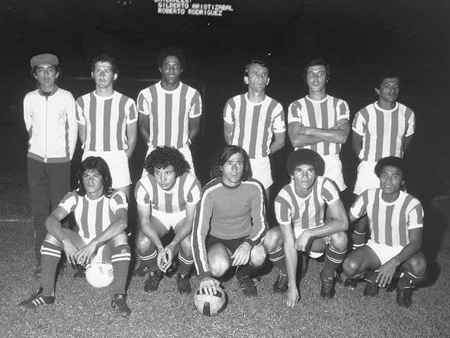 1976  Jorge Pelaez, Francisco Maturana, Eduardo Retat, Jorge Olmedo, Ivan Dario Castañeda, Jorge Salgado, Ramon Boveda, Raul Navarro, Eduardo Vilarete y Jorge Ortiz.
