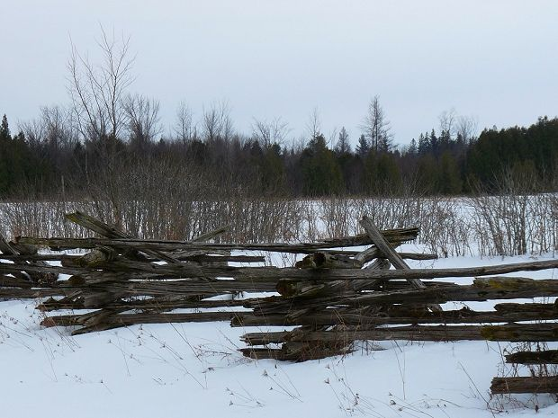 country rail fence winter - photo #32