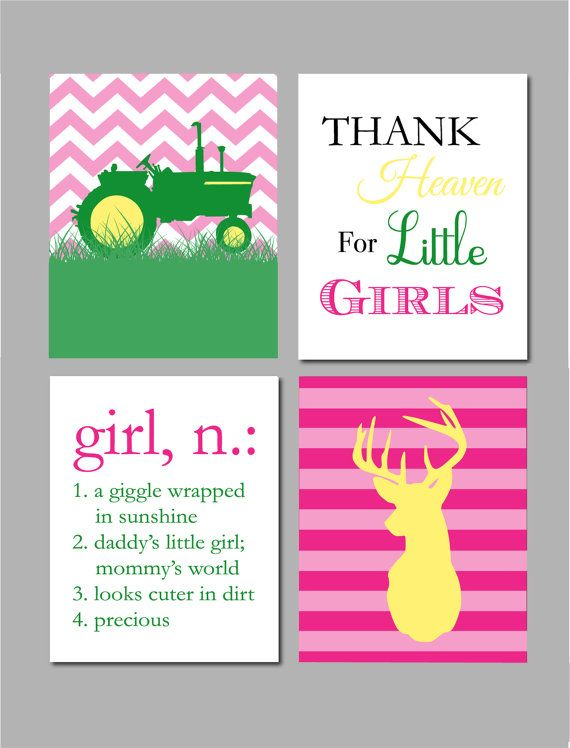 Girl Room Decor John Deere Girl Nursery Art John by karimachal