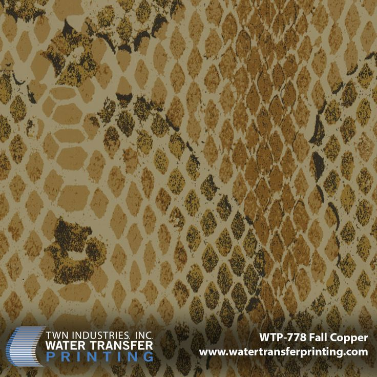 Snakeskin hydro dipping pattern: WTP-778 Fall Copper