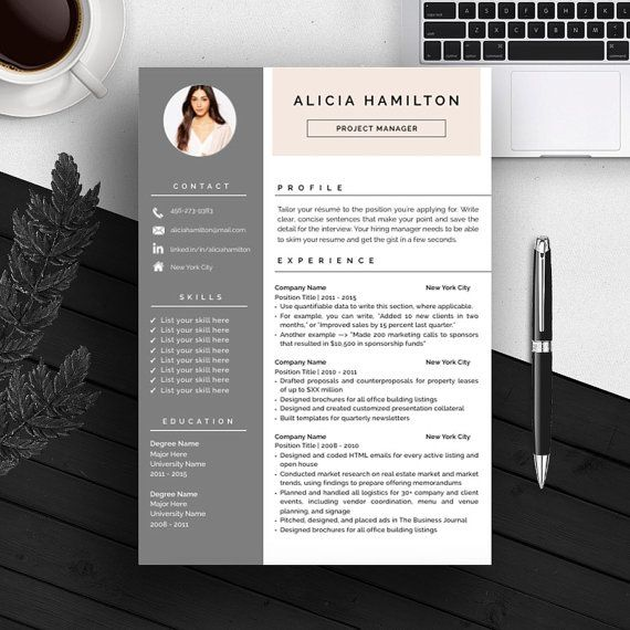 creative professional resume template cv template cover letter for ms word iwork