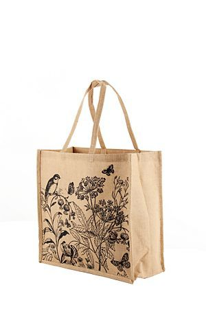 """Add a touch of style and grace to your shopping days with this jute, floral shopper.<div class=""""pdpDescContent""""><BR /><b class=""""pdpDesc"""">Dimensions:</b><BR />L45.5xW18xH41.5 cm</div>"""