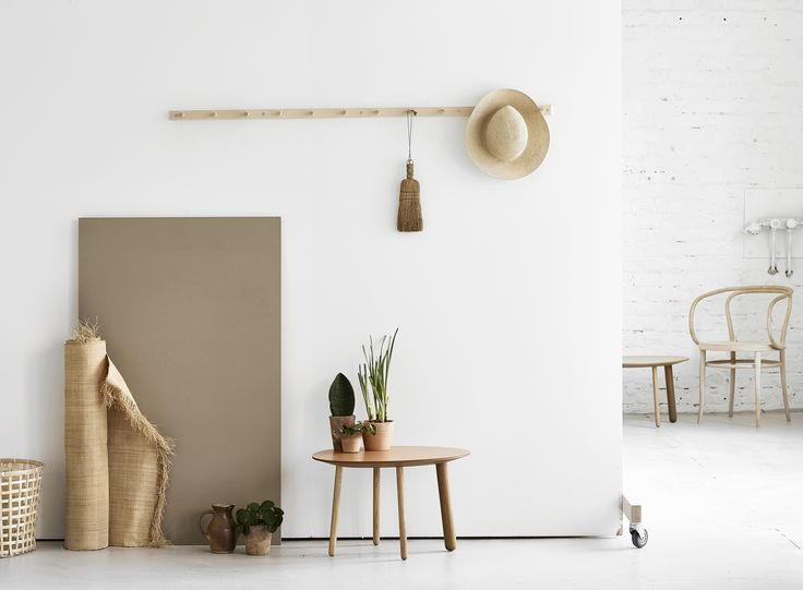 Habitek Morris tables and espskär coat racks are perfect for the city flat but excellent for the summer cottage too!
