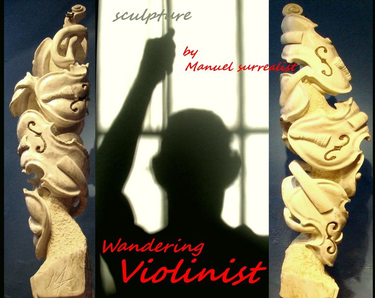 Wandering Violinist marble sculpture by Manuel surrealist https://plus.google.com/107126186716150763285/posts/HKxo2mpvCMy