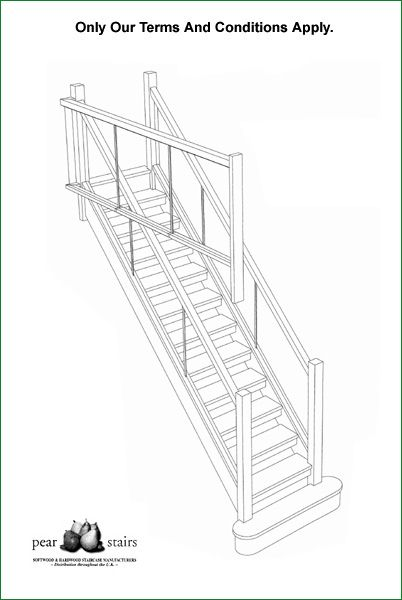 Hunters Barn Glass Staircase - 3D Staircase design.