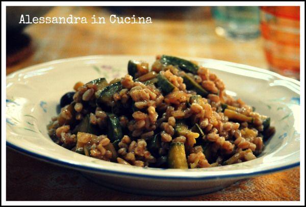 FARRO CON ZUCCHINE « Alessandra in cucina...