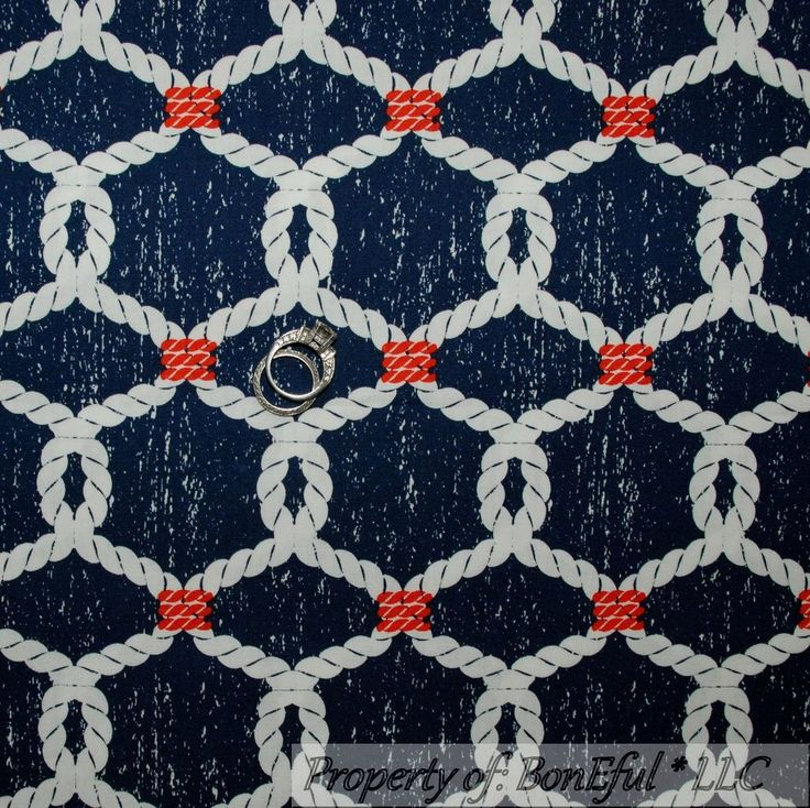 Details About Boneful Fabric Fq Cotton Quilt Navy Blue
