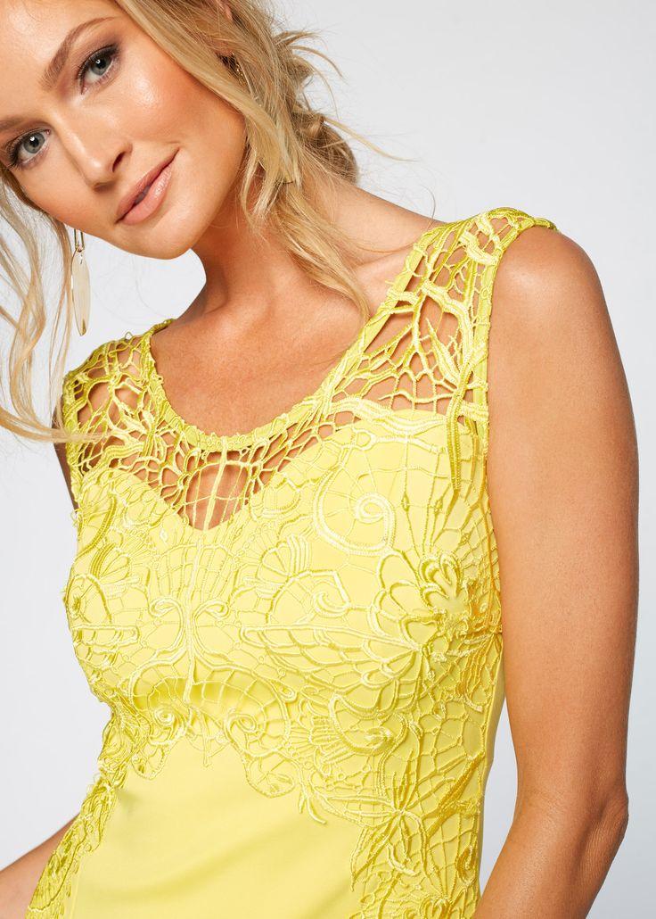 Commandez maintenant Robe de soirée à dentelle jaune clair - BODYFLIRT boutique à partir de 29,99 ? sur bonprix.fr. Pour les grandes occasions ! Robe sans ...