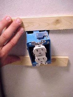 Fixing a loose electrical outlet box | Mobile Home Repair
