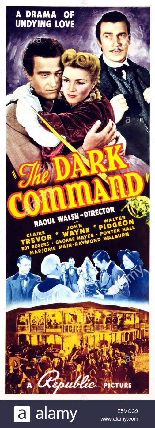 The Dark Command, L-r: John Wayne, Claire Trevor, Walter Pidgeon On Stock Photo, Royalty Free Image: 72363545 - Alamy