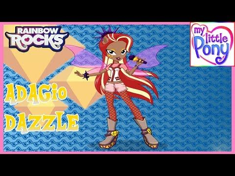 MLPEG - Rainbow Rocks Adagio Dazzle Dress Up Game - MLP-EG