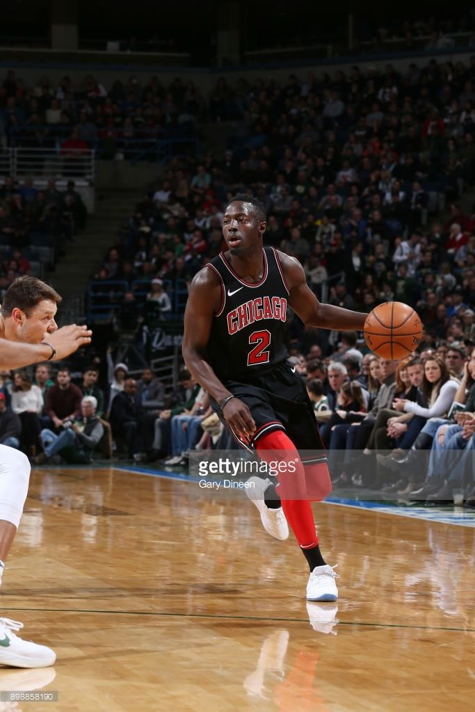 News Photo : Jerian Grant of the Chicago Bulls handles the...