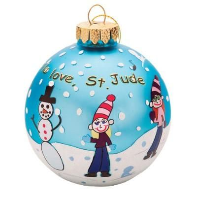 Hostess Gift: Kids in Snow ornament Give your hostess a gift that she can use year after year, like an ornament on her tree.