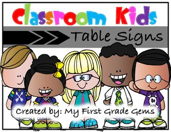 Label your classroom tables with these kid themed signs!I have included 6 signs with each sign featuring a different classroom kid!Each of the 6…