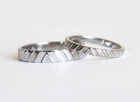 Wedding Ring Set White Gold Ring Set Modern Wedding by MinimalVSThe 25  best Modern wedding rings ideas on Pinterest   Modern  . Modern Wedding Bands. Home Design Ideas