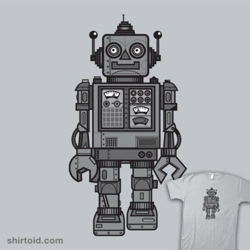 Vintage Robot | Shirtoid #craigwatkins #robot #robots #wotto