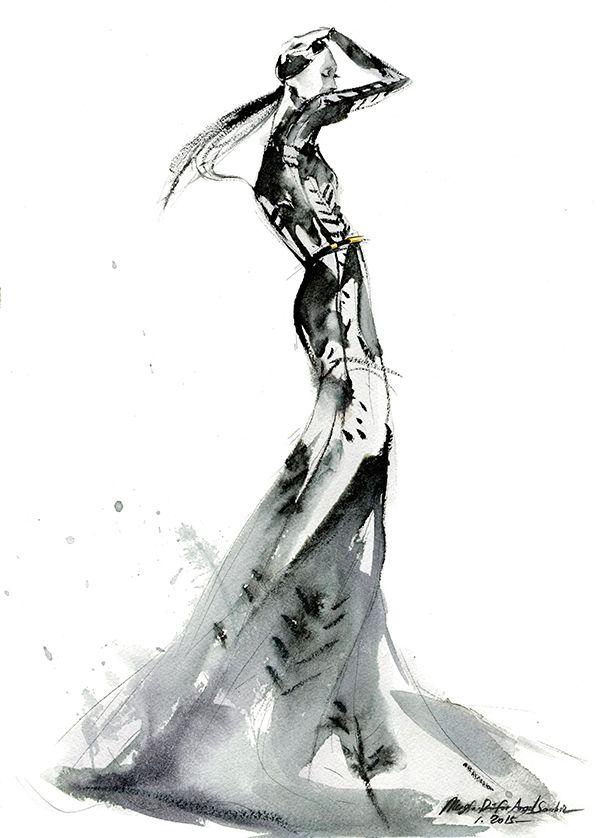 Mengjie Di #fashionillustration #artluxedesigns