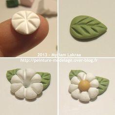 Myriam Lakraa Créations - Petite fleur, pas à pas - Pâte polymère Fimo (polymer clay) - 2013