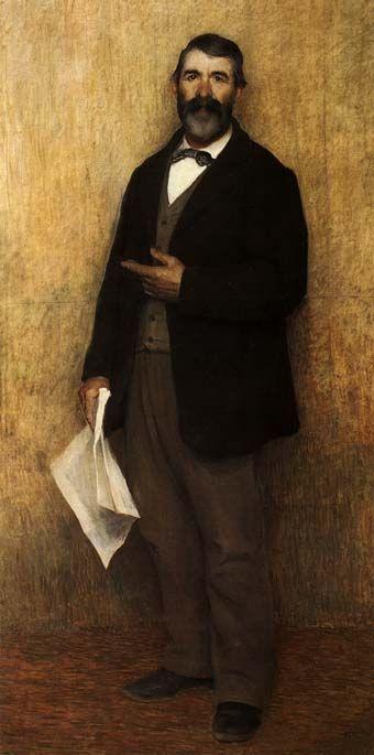 Pellizza Da Volpedo, RITRATTO DI MIO PAPÀ, 1890, olio su tela, cm. 200x100, Volpedo, Studio-Museo