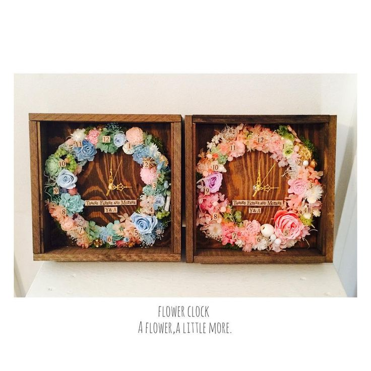 , flower clock お花多めの時計のorderも頂きました とっても可愛かったです ご注文ありがとうございました ,…