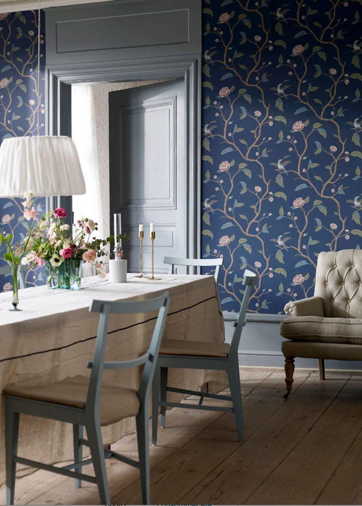 Bien Papier Peint Plan De Campagne #15: Inspiration : Le Papier Peint Fleuri Ou à Motif Végétal