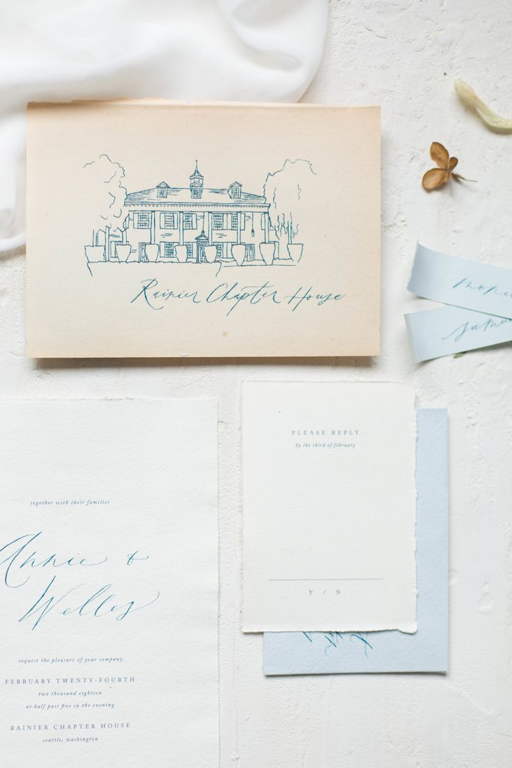 make your own simple wedding invitations%0A Rainier Chapter House fine art wedding inspiration  wedding invitation  suite made with handmade paper