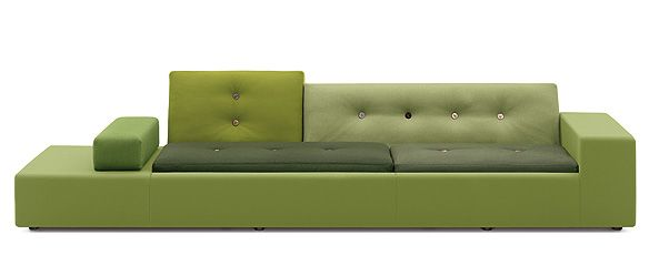 Polder Sofa, Hella Jongerius - Urban and rural.  She was inspired by aerial views of farm land.