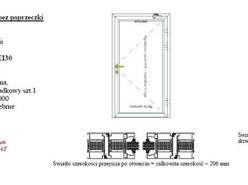 Aluminiowe drzwi przeciwpożarowe ppoż EI30 EI60