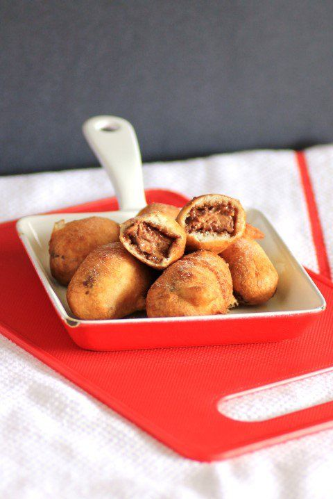 Deep Fried Mars Bars by Noshing With The Nolands, decadent, sinful, mars bars in a delicate crispy casing!