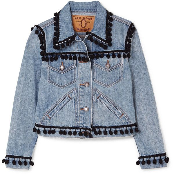 womens Lt Weight Embellished Cropped Jean Jacket Bright Blue CHIC S M L XL