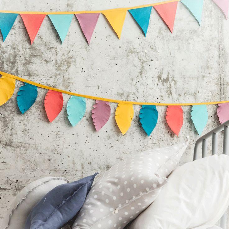 Guirnalda de colores para ni os fiestas y cumples for Guirnaldas para fiestas infantiles
