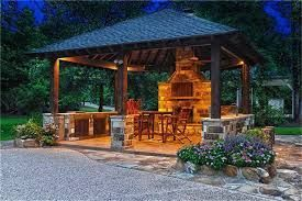 Outdoor Picnic Shelter Plans Chimney Google Search